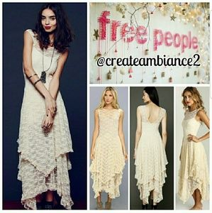 Free People French Court Sheer Lace Maxi